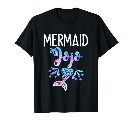 Amazon Mermaid Jojo Birthday Party Mothers Day T Shirt Clothing