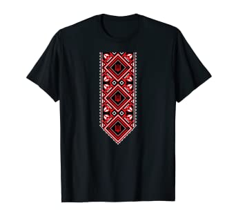 992b70849ee Image Unavailable. Image not available for. Color  Ukrainian Embroidered  Print Vyshyvanka T-Shirt ...