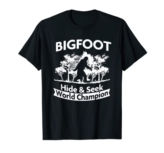 de4f14e6 Image Unavailable. Image not available for. Color: BIGFOOT: Hide & Seek  World Champion T-Shirt ...