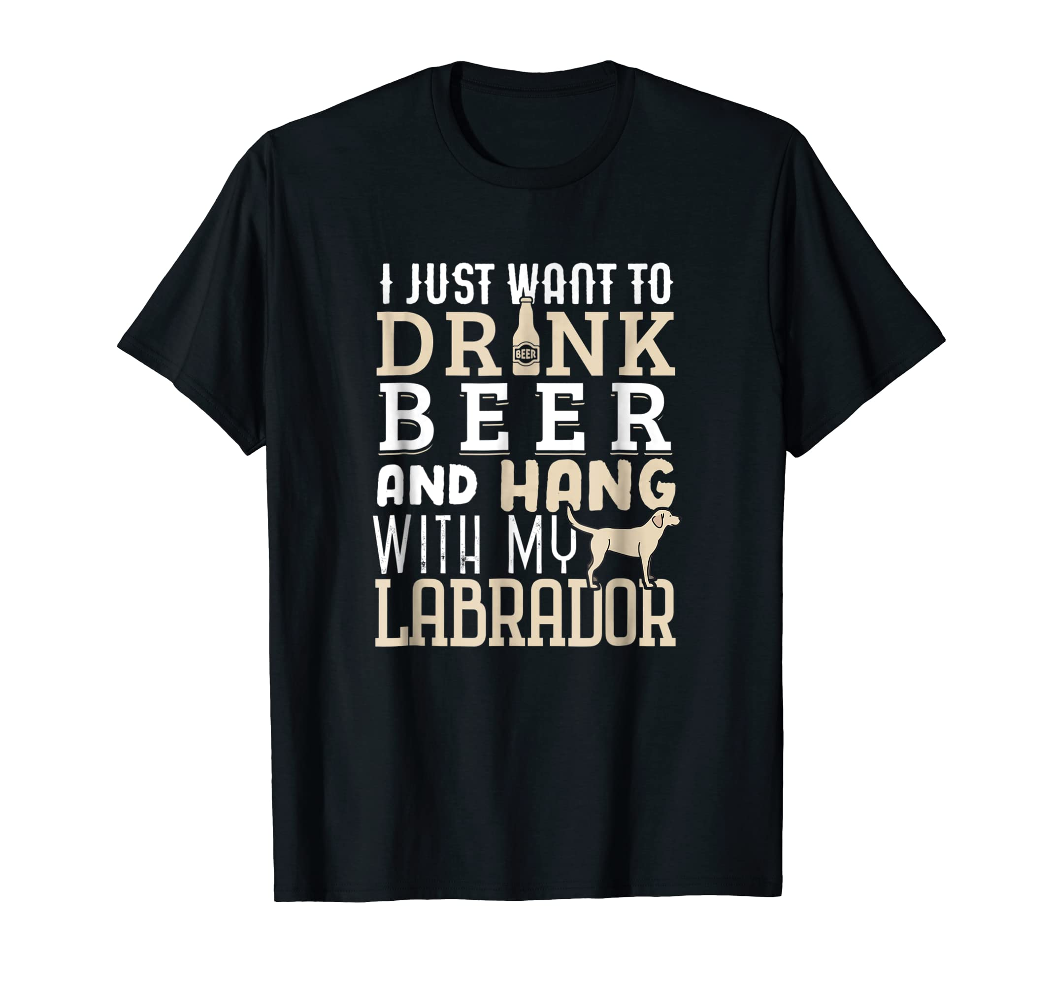 Labrador Dad Shirt Funny Father's Day Lab Retriever Dog Beer-Men's T-Shirt-Black