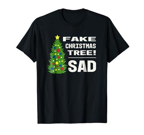 Amazon Com Fake Christmas Tree Sad Trump Meme Funny Holiday