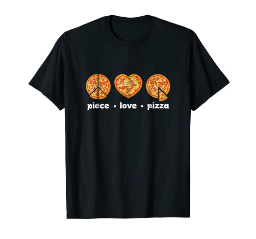 86ea129bc Image Unavailable. Image not available for. Color: Funny Pizza T Shirt  Piece Love Pizza Lovers Tee Gift Mens