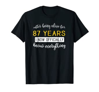 Image Unavailable Not Available For Color 87th Birthday T Shirt