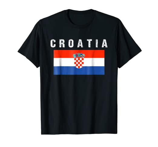 Image Unavailable. Image not available for. Color  Croatia Soccer Jersey  2018 Russia Football Team Fan T-Shirt 96d6d8b3e