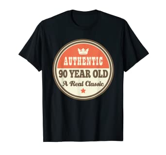 Amazon Funny 90th Birthday Tee Vintage 90 Year Old T Shirt