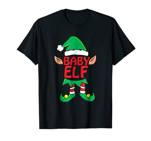 e80478d53 Image Unavailable. Image not available for. Color: Kids Baby Boy ELF T-Shirt  Family Matching Christmas Tee