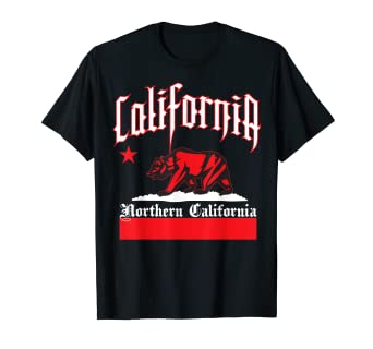 24c9a34b Image Unavailable. Image not available for. Color: Mens CaliDesign Men's Northern  California T-shirt Nor Cali