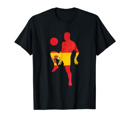 Spanish Soccer ball kicker TEE Shirt for national team fans