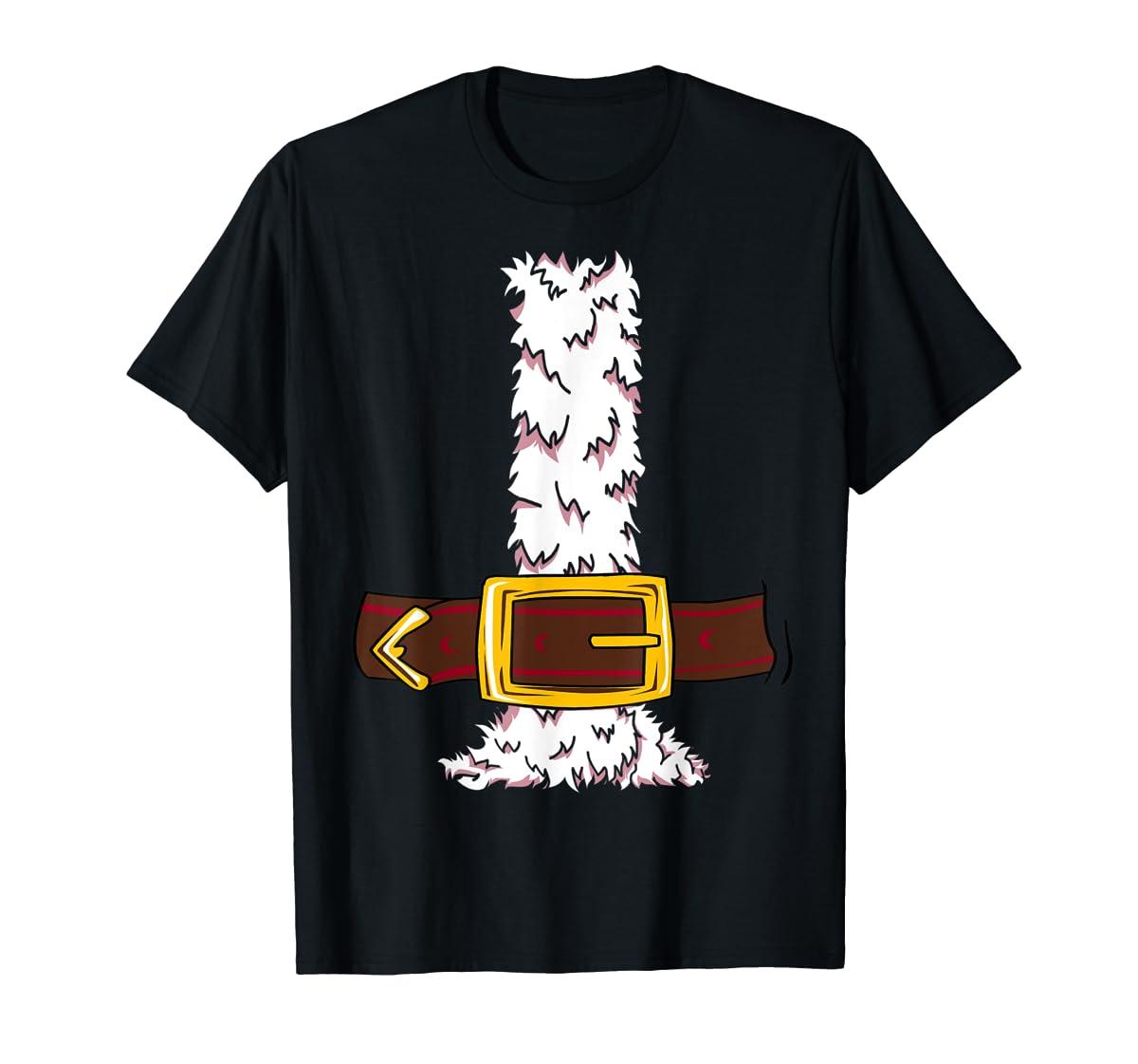 Funny Christmas gift for boys girls men women Santa costume T-Shirt-Men's T-Shirt-Black