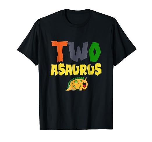 Amazon 2 Two Asaurus Childrens Birthday T Shirt Clothing
