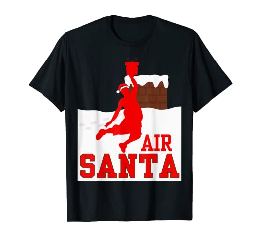 0a9b5360d Image Unavailable. Image not available for. Color: Air Santa Basketball T- shirt , Funny Christmas Gift