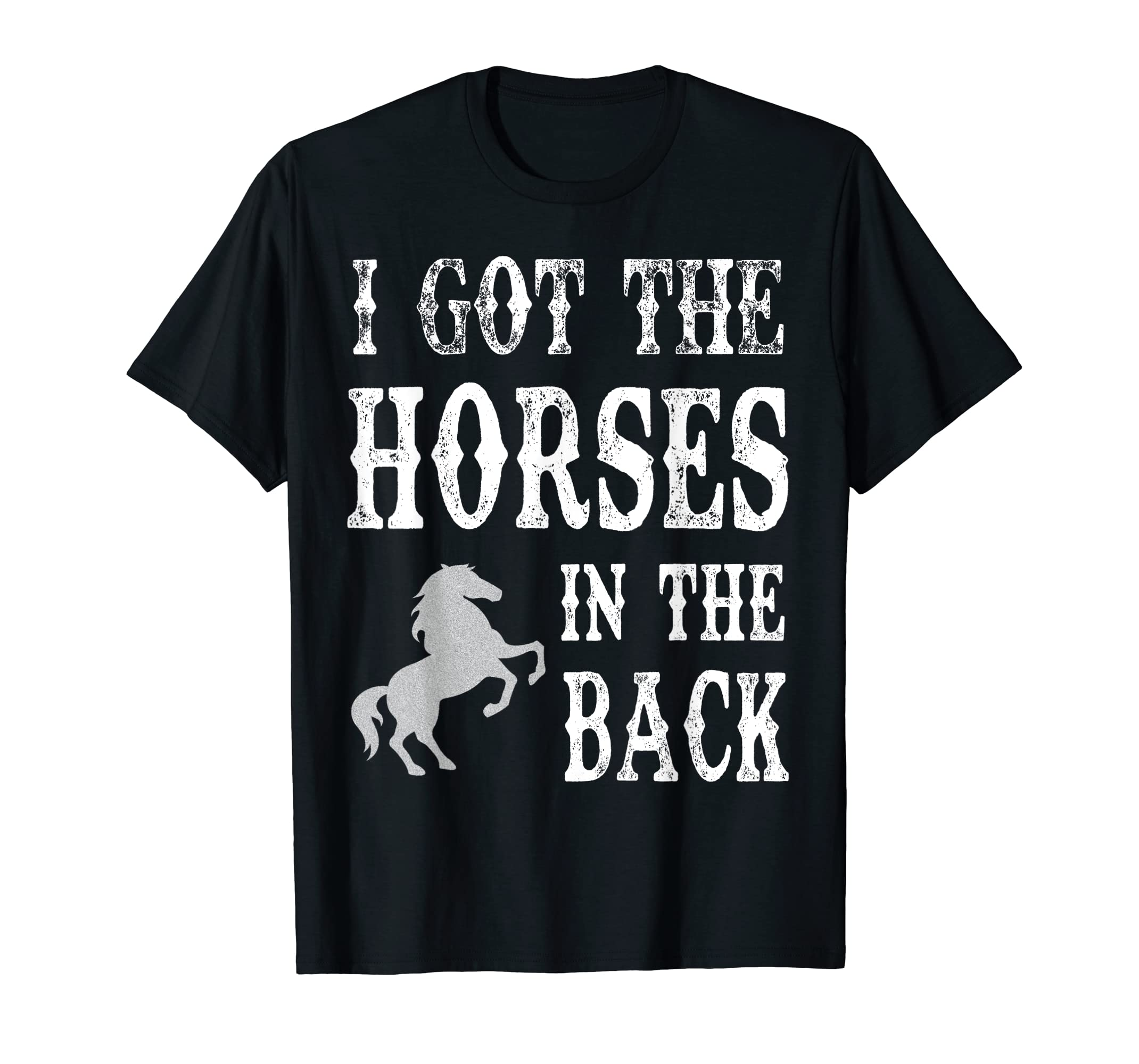 Old Town Road Horses In The Back Country Rap Music Shirt-Men's T-Shirt-Black