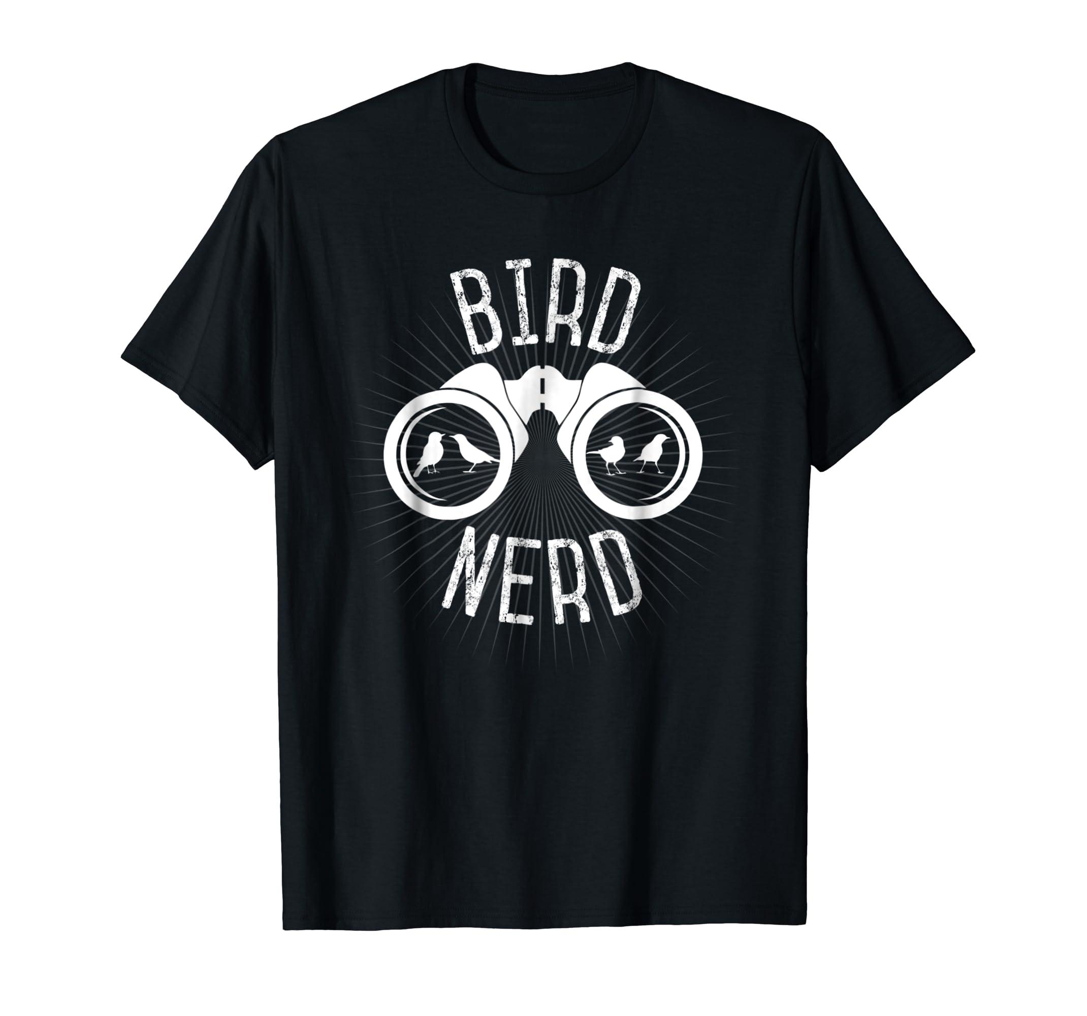 Birdwatcher Gifts, Birdwatching T-Shirt: Bird Nerd Shirt-Men's T-Shirt-Black