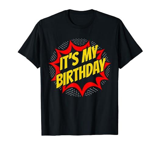 Amazon Super Hero Birthday Shirt For Boys Girls Costume Party