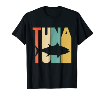 amazon com vintage style tuna silhouette t shirt clothing