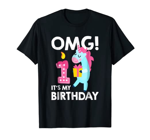 Its My 1st Birthday T Shirt Unicorn 1 Year Old Birthda