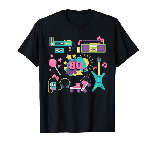 63103e69 Image Unavailable. Image not available for. Color: Retro 80s T-Shirt ...