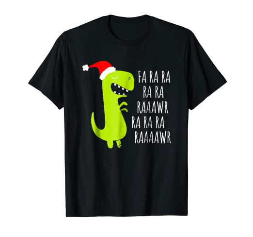 98d48bd5e Image Unavailable. Image not available for. Color: Fa Ra Ra Ra Rawr Tree  Rex T-Shirt - Funny T-Rex Xmas