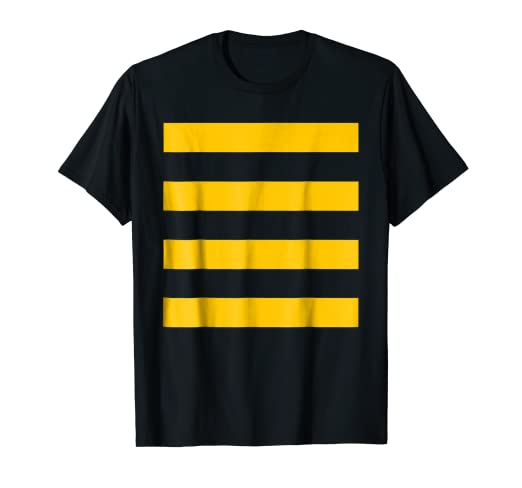 bb20b1644f Image Unavailable. Image not available for. Color: Bee Halloween DIY  Costume Shirt - Yellow Stripes on Black