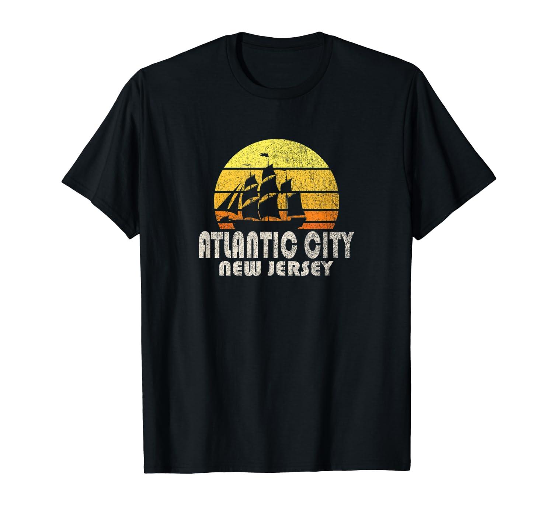 Retro Atlantic City Nj Beach Vacation T Shirt