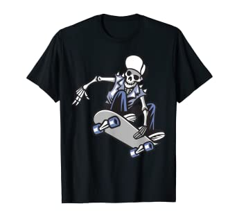 673d5f2468ed Image Unavailable. Image not available for. Color: Skull Punk Ride A Skateboard  T Shirt ...