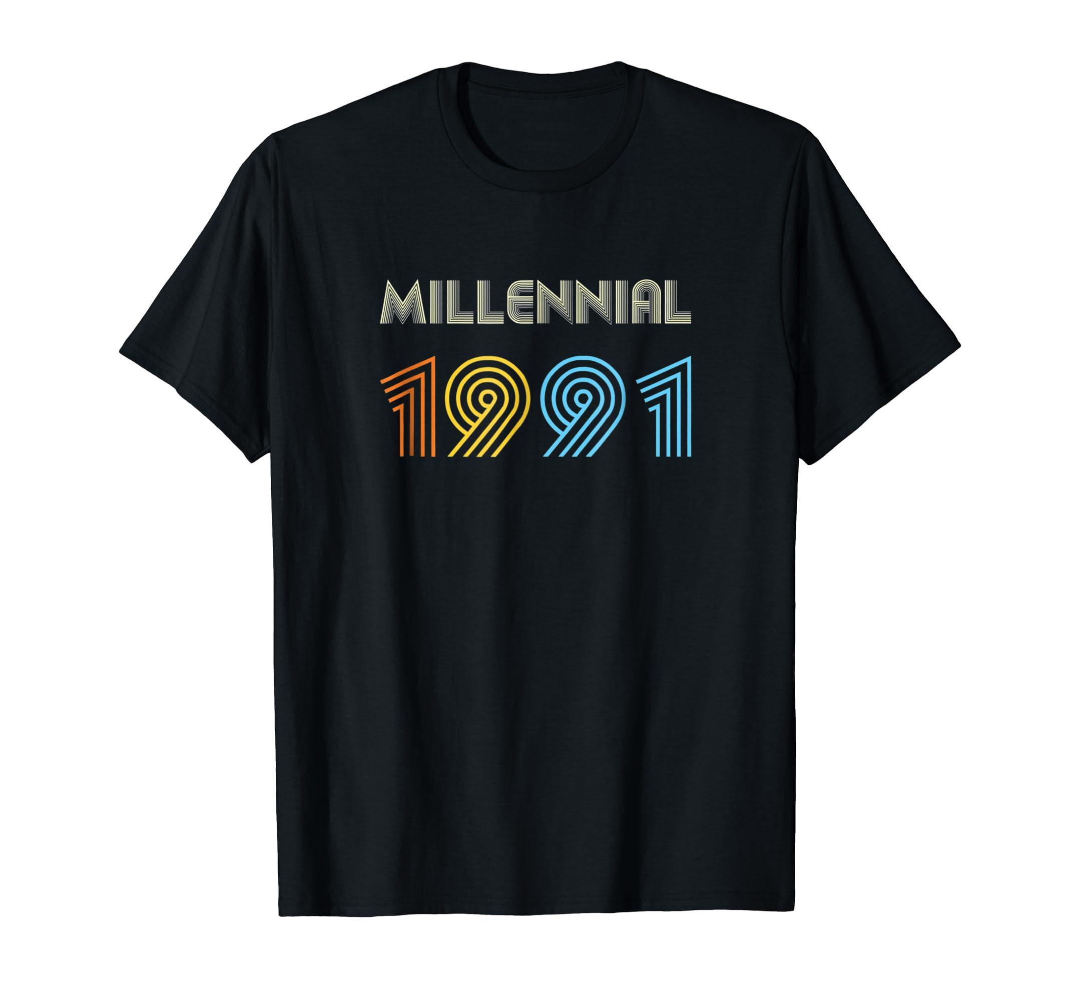 Xeire Millennial Born in 1991 Birthday Gift Shirt-SFL