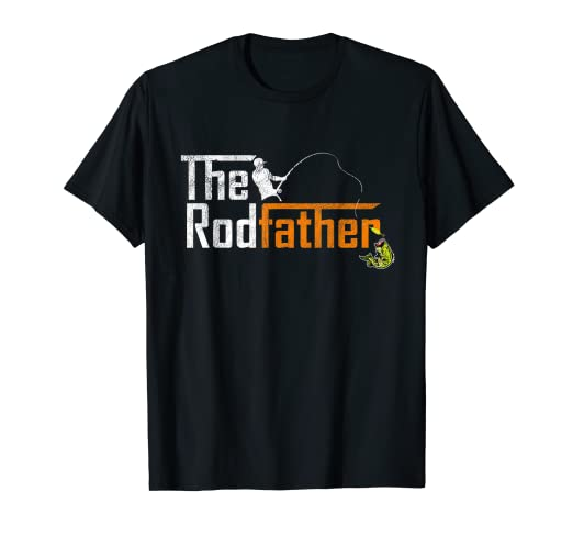 4eda64582c Image Unavailable. Image not available for. Color: Mens The Rodfather - Funny  Fishing Father's Day Gift T Shirt