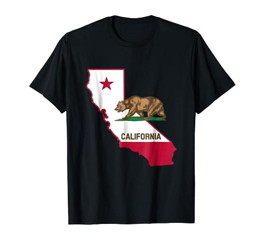 Bandera California Ropa Camisetas para mujer hombre ninos