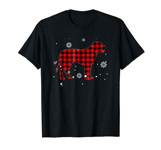 Amazon com: Red Plaid English Mastiff Dog Buffalo Family
