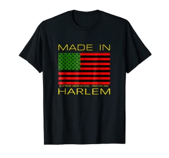 Image Unavailable. Image not available for. Color  African American Flag T- Shirt - Harlem 1eda63483fa
