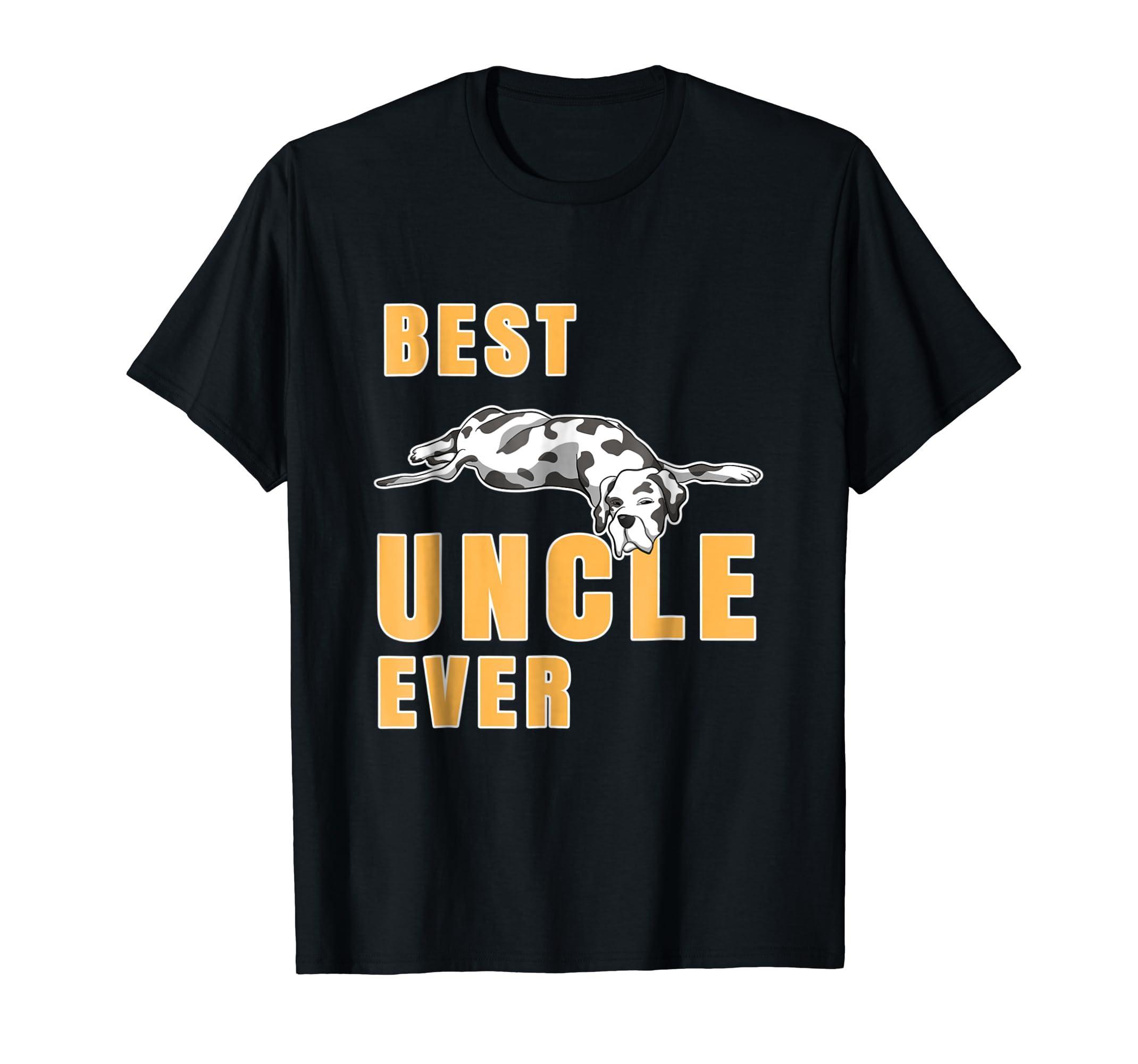 Best Great Dane Uncle Ever Shirt-Men's T-Shirt-Black