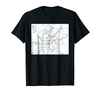 Vienna Subway Map.Amazon Com Vienna Subway Map Austria T Shirt Clothing