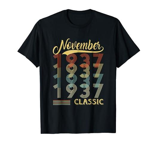 November 1937 81st Birthday Gift 81 Year Old For Men Women