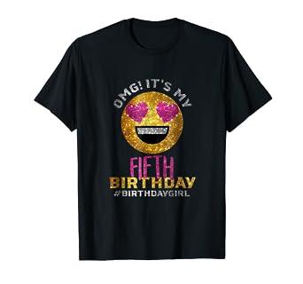 Amazon OMG Its My Fifth Birthday Shirt