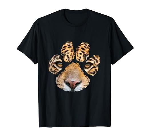 61be0473 Amazon.com: Awesome Jaguar Paw Print T-Shirt - Mens & Womens & Kids ...