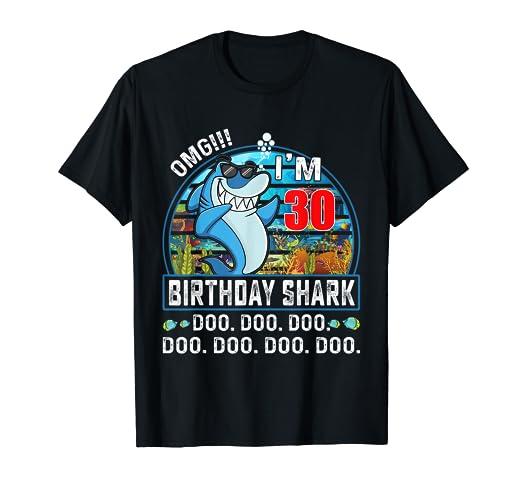 Amazon OMG Im 30 Bday Shark Funny 30th Birthday Gift Years