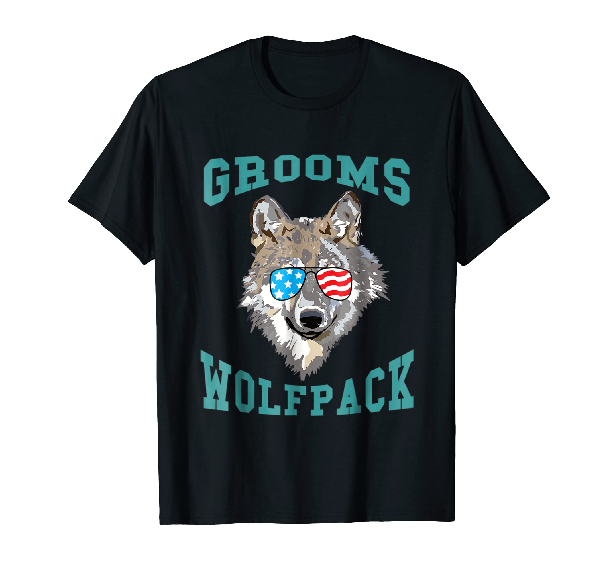 Grooms Wolfpack Bachelor Party Shirts Groomsmen Squad Gift-Men's T-Shirt-Black