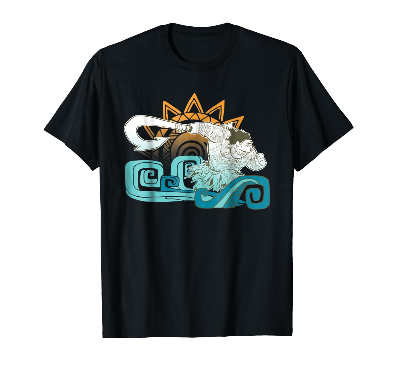 Moana Maui Hook Surf And Sun Gradient Graphic Shirts