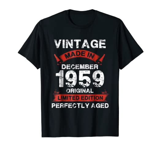 Vintage For December 1959 59th Years Old 59 Birthday Shirt