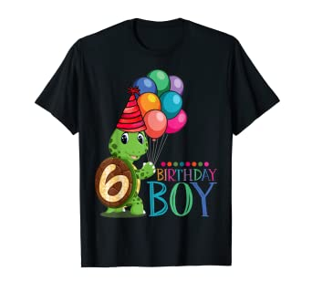 Image Unavailable Not Available For Color 6th Birthday Gift Shirt Turtle 6 Year Old Boys