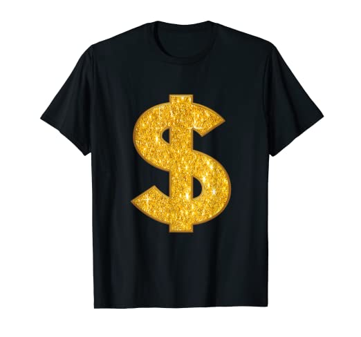 Dollar Sign Shirt | Dollar Symbol Shirt | Gold Birthday Gift