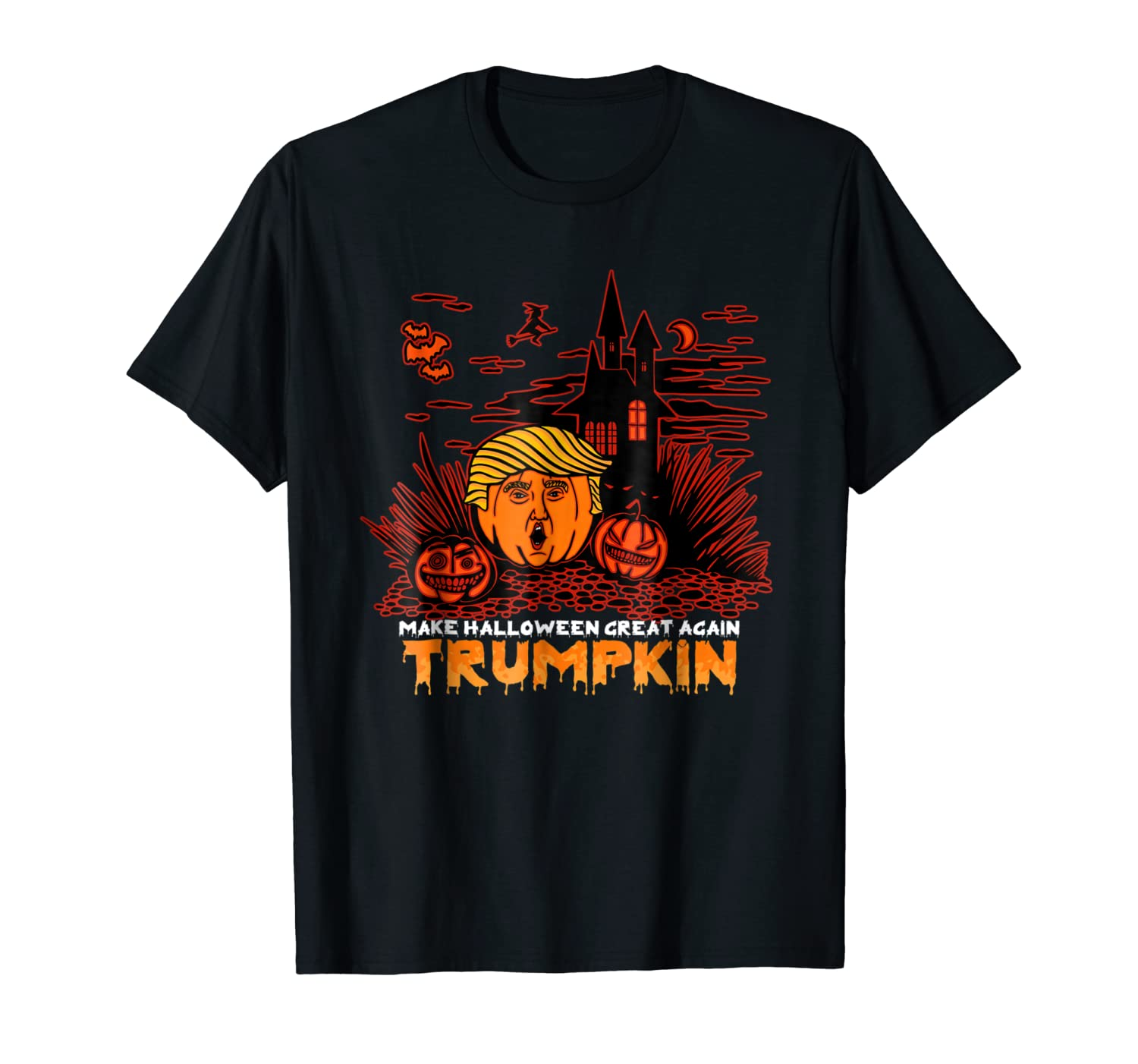 Trumpkin Costume T-shirt Make Halloween Great Again