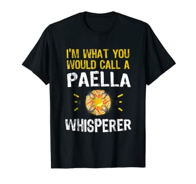 Amazon.com: Paella Shirt For Spaniards Camisetas De Espana Spanish Shirt: Clothing