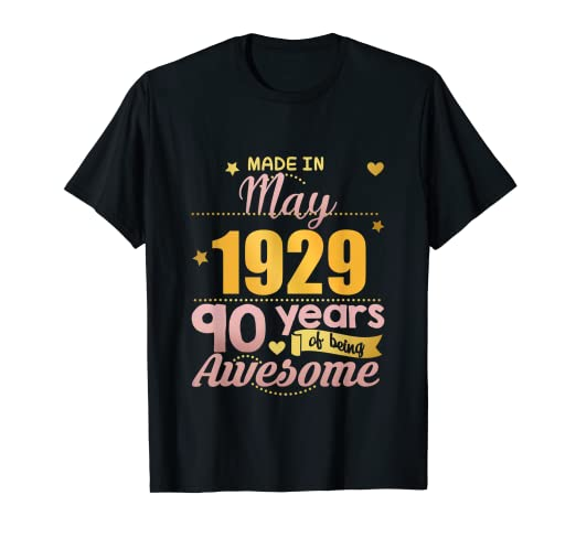Image Unavailable Not Available For Color 90th Birthday May Shirt Women Gifts Ninety Year Old Grandma