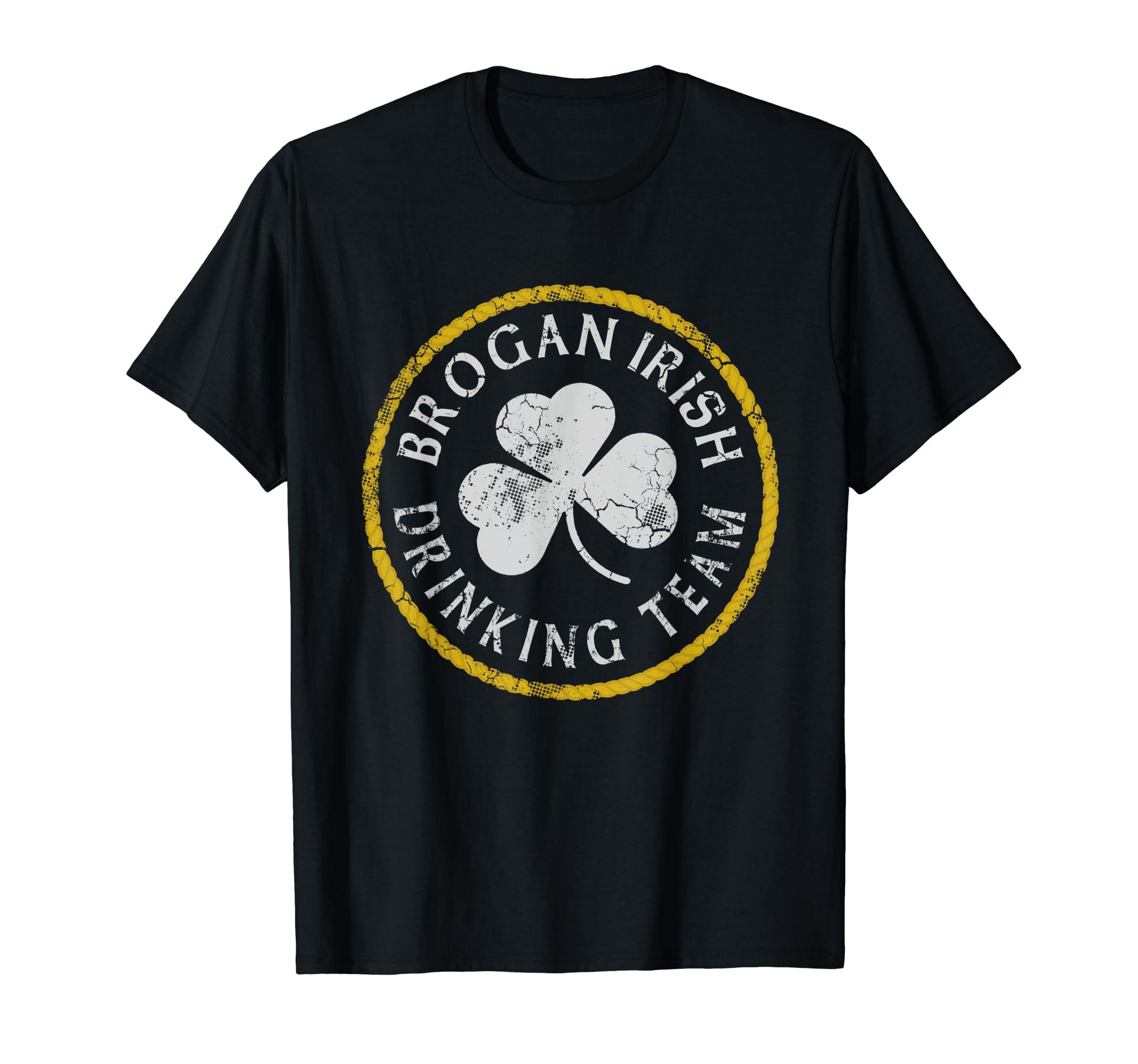 cb5562e9618 Amazon.com  Brogan Irish Drinking Team T-Shirt Family Surname  Clothing