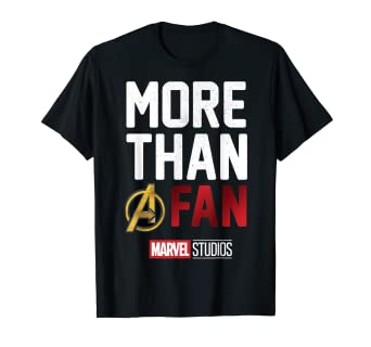 f0ab5983528e Image Unavailable. Image not available for. Color  Marvel Studios MORE THAN  A FAN 2019 Graphic T-Shirt