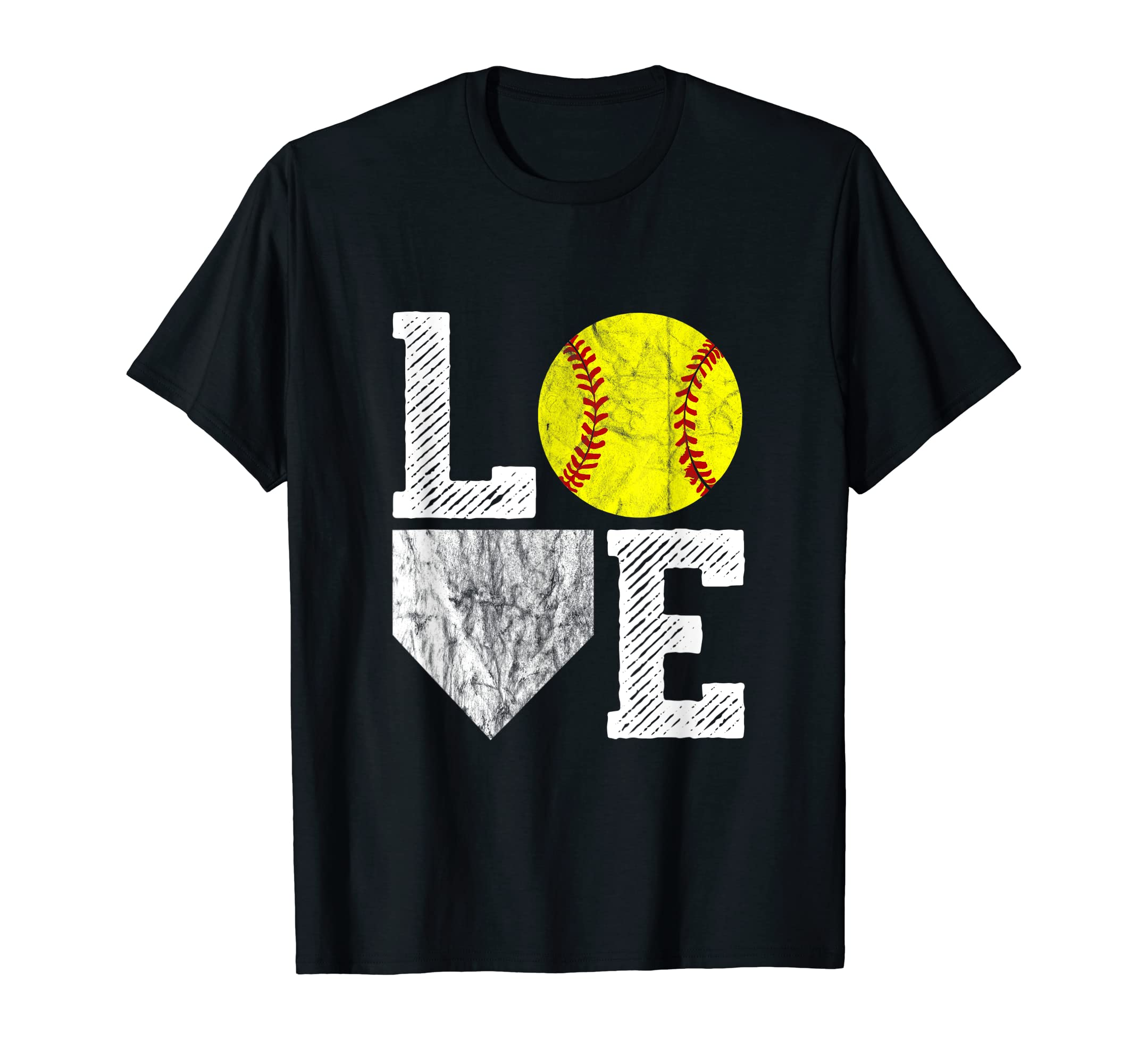 34062cbb Amazon.com: Love Softball T Shirt Girls Mom Women Vintage Softball Gift:  Clothing