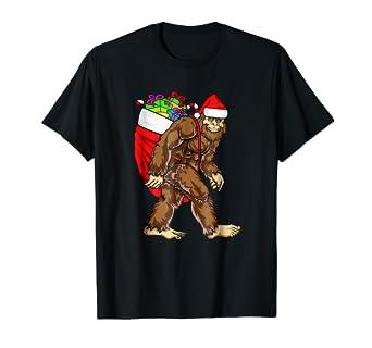 Amazon.com: Bigfoot Santa Claus Boys Christmas T Shirt ...