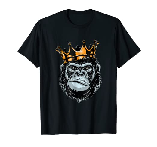 988ceedc Image Unavailable. Image not available for. Color: Gorilla King T-shirt ...