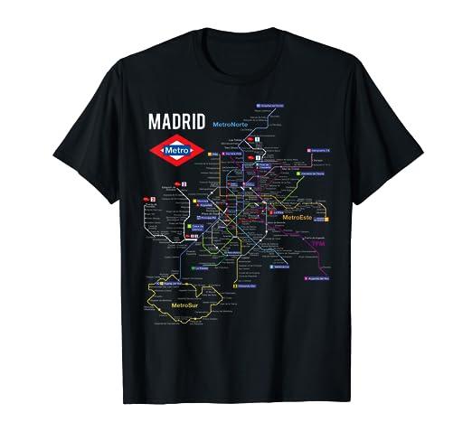 Man Looking At Subway Map.Amazon Com Madrid Spain Metro Subway Train Map T Shirt Gift Clothing